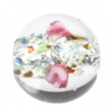 Glass Lamp Bead 10mm Round Crystal/Rose